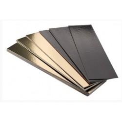 semelle à bûche bord droit or/noir 35 x 10 cm x 1mm
