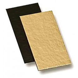 small double-sided gold and black - 10  x 5 cm x 1 mm