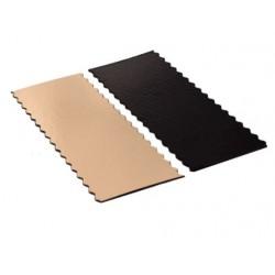 semelle à bûche bord ondulé or/noir 25 x 10 cm x 1mm