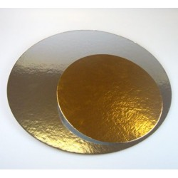 "double-sided gold and silver - Ø 35 cm / 14"" x 1 mm"