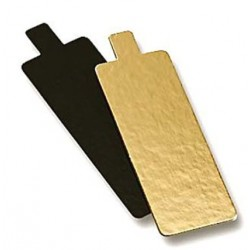 double-sided gold and black with tongue - 9.5 x 5.5 cm   x 1 mm