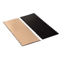 scalloped edge double-sided gold and black - 20 x 10 cm x 1 mm