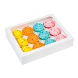 boîte à 12 cupcakes & insert - blanc