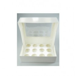 box 12 mini cupcake & insert - white