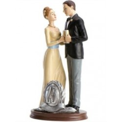figurine married couple - 25th birthday - 20cm