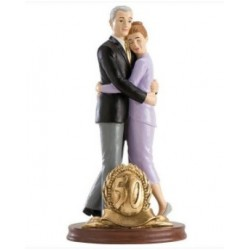figurine married couple - 50th birthday - 20cm