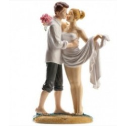figurine married couple at the beach - 16cm