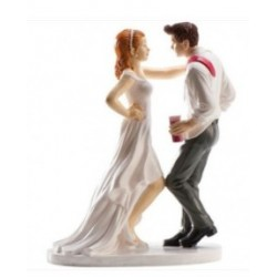 figurine married couple who dance - 16cm