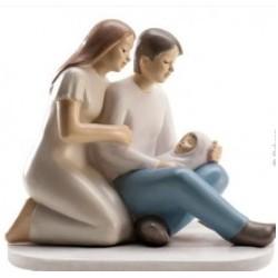 baptism scene figurine - 10cm