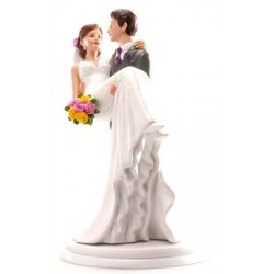 figurine married couple - woman in arms - 20cm