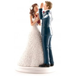 figurine married couple - tie taking - 20cm