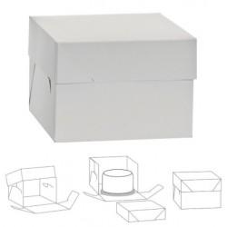 cardboard cake box - white - 26.5 x 26.5 x H25cm - Decora