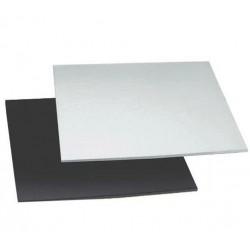 double face  noir /argent  - 24 x 24 cm  x 4 mm - Decora