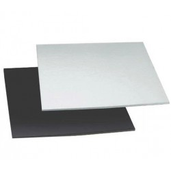 double face  noir /argent  - 28 x 28 cm  x 4 mm - Decora