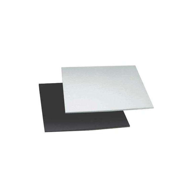 double-sided black/silver  - 36 x 36 cm x 4 mm - Decora