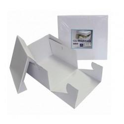 boîte en carton pour gâteau - blanc - 22.5 x 22.5 x H15cm - PME