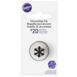 2D drop flower piping tip - Wilton