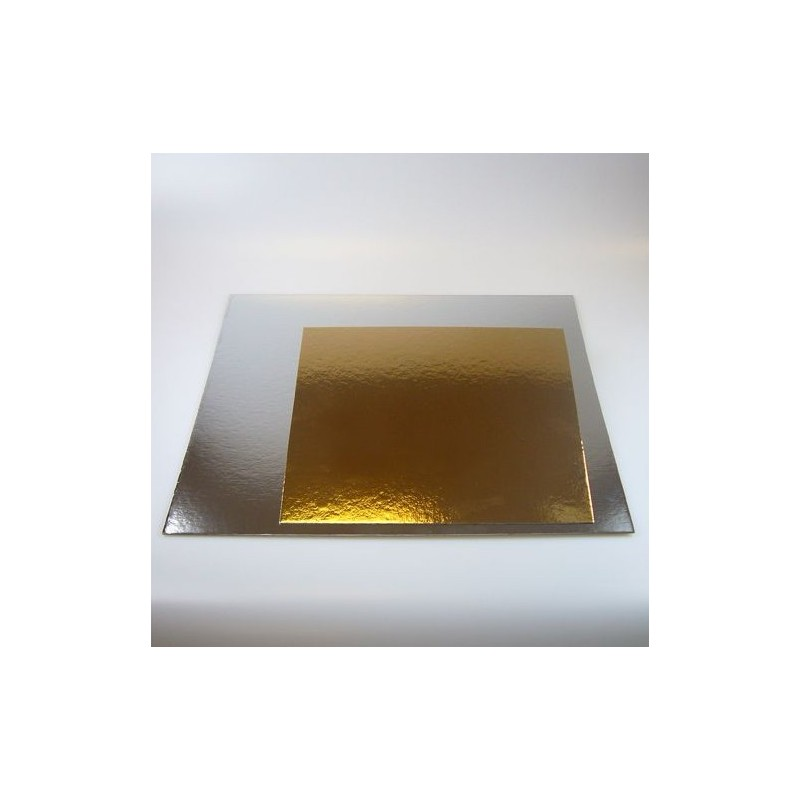 double-sided gold/silver  - 20 x 20 cm x 1 mm - Funcakes
