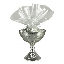 silver chalice cup - 13 cm high x 6 cm wide