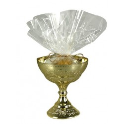 gold chalice cup - 13 cm high x 6 cm wide