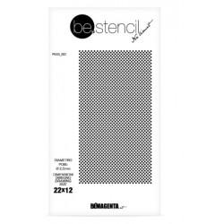 be.stencil - dots 002 - Ø 2.5mm