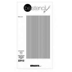 be.stencil - ligne 001 - 1mm
