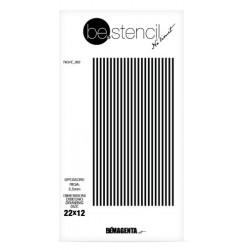 be.stencil - line 002 - 2.5 mm
