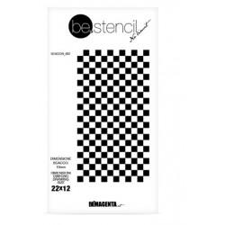 be.stencil - échecs 002 - 10 mm
