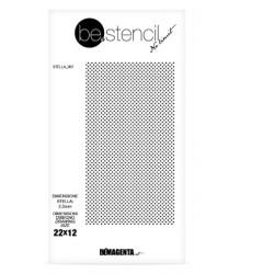 be.stencil - star 001 - 2.5 mm