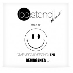 be.stencil - smile 001 - 50mm