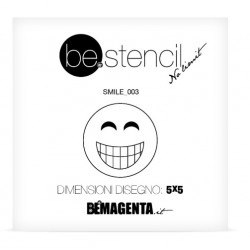 be.stencil - smile 003 - 50mm
