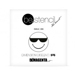 be.stencil - smile 006 - 50mm