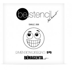 be.stencil - smile 008 - 50mm