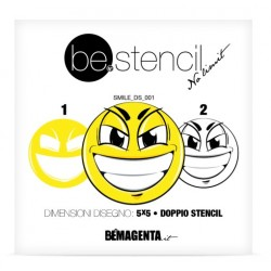 be.stencil - smile double 001 - 50mm