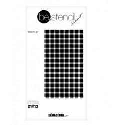 be.stencil - tissu 001