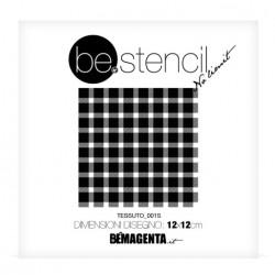 be.stencil - small fabric 001 - 120mm