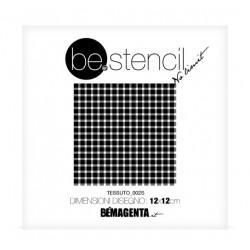 be.stencil - small fabric 002 - 120mm