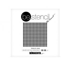 be.stencil - small fabric 004 - 120mm