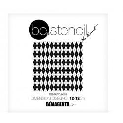be.stencil - small fabric  005 - 120mm