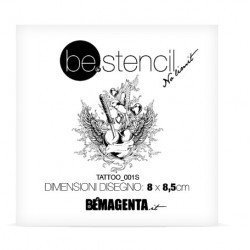 be.stencil tattoo small 001 - 80mm