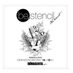 be.stencil tatoo 001 - 120mm