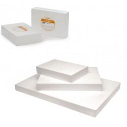 Polystirène rectangulaire 20x30 cm hauteur 7.5 cm