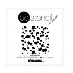 be.stencil -  animal dalmatian small 001 - 120mm