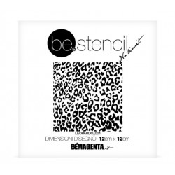 be.stencil - animal léopard petit 002 - 120mm