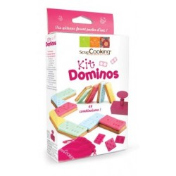 """Kit """"Dominos""""for cookies and sugar paste of ScrapCooking"""