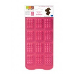 Moule silicone chocolat mini-tablettes ScrapCooking