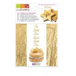 Booklet of 5 sheets of 22 carat gold ScrapCooking