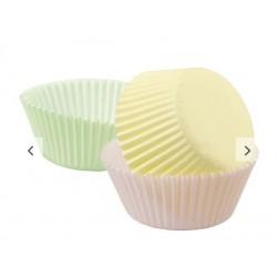 assortiment caissettes à cupcake pastel - 75pcs - 5cm Ø - Wilton