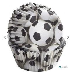 caissettes rigides à cupcake football - 36pcs - 5cm Ø - Wilton