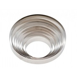 Stainless steel circle ø 20 x h 6 cm Decora